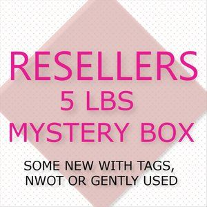5lbs of clothing!! RESELLER MYSTERY BOX!!